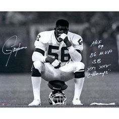 Lawrence Taylor New York Giants Autographed 16'' x 20'' Helmet Sit Photograph with Multiple Inscriptions