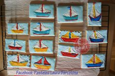 Bateaux!! Ship! Galletas de mantequilla decoradas con glasé!!