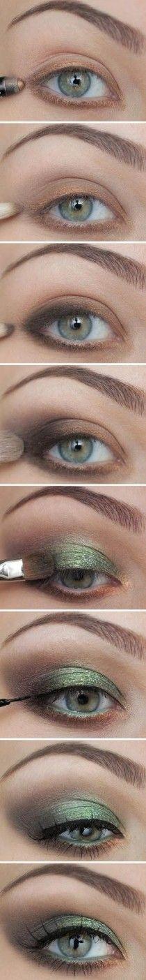 wedding , Best Bridal Makeup ♥ Green Smokey Eye Makeup