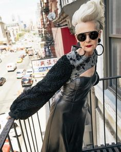 Lyn Slater is a 63 year old fashion icon. Read the full article to discover her fascinating life story.