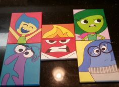 Sadness From Disney Pixar's Inside Out Original Acrylic Painting - Hand Painted - Head Shots By Artox -Love With Faith by LoveWithFaith on Etsy