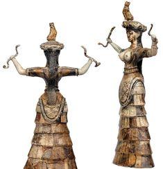 Minoian Civilization - The snake Goddess, Knossos (Crete). The Archaeological Museum of Heraklion