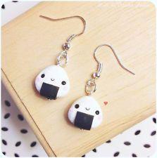 Orecchini Onigiri Kawaii Cute Earrings Fimo Polymer Clay Japan Love おにぎり