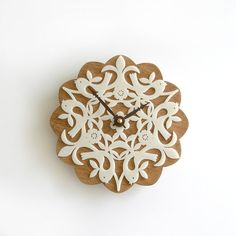 laser cut acrylic + wood clock