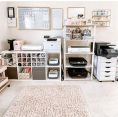 If this isn't the prettiest craft room! 😍 has the dream right here! Craft Room Decor, Craft Room Design, Cricut Craft Room, Craft Room Storage, Room Organization, Bedroom Decor, Craft Rooms, Craft Room Closet, Home Office Space