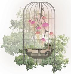 'mandarin oriental hotel' by jouin manku studio in collaboration with patrick jouin ID located in paris, france. Mandarin Oriental, Magazine Design, Architecture Design, Jewelry Store Design, Raised Bed Garden Design, Cool Tree Houses, Color Plan, Outdoor Restaurant, Unusual Flowers