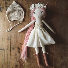 RESERVED  pink fairy heriloom doll by forestcreature on Etsy