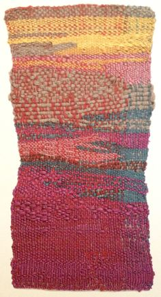 Sheila Hicks image of Primary-yellow from her book Weaving as Metaphor, Textile Fiber Art, Textile Artists, Weaving Textiles, Tapestry Weaving, Basket Weaving, Hand Weaving, Sheila Hicks, Colorful Tapestry, Abstract Embroidery