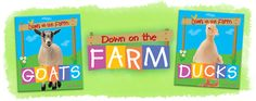 Down on the Farm series (Crabtree Publishing) Large, entertaining photographs help draw children into these easy-to-read, child-friendly books about animals on the farm. Kids will be fascinated to learn about each animal's body, its life cycle, different breeds, why it lives on a farm, and animal-related customs from around the world. Each title also features a fun activity page. #reading