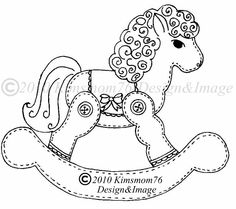 Rocking horse template or pattern for my rocking horse cookie