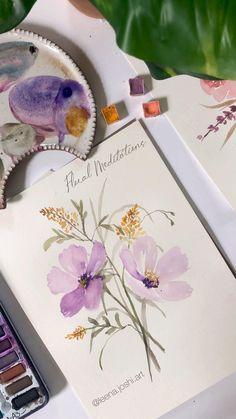 Watercolor Paintings For Beginners, Watercolor Art Lessons, Watercolor Video, Watercolor Projects, Watercolor Techniques, Watercolor Cards, Abstract Watercolor, Watercolor Illustration, Watercolor Pencil Art