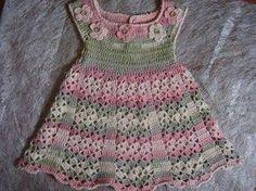 Resultado de imagen para vestidos de niña tejidos en crochet pinterest