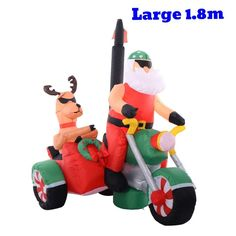 Christmas Inflatable Holiday Santa Claus Bike Deer Blower Lights Xmas Home Decor  | eBay http://www.ebay.co.uk/itm/Christmas-Inflatable-Holiday-Santa-Claus-Bike-Deer-Blower-Lights-Xmas-Home-Decor-/162674686774?utm_campaign=crowdfire&utm_content=crowdfire&utm_medium=social&utm_source=pinterest