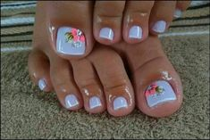 Summer Pedicures You Need in Your LIfe Pretty Toe Nails, Cute Toe Nails, Gel Nails, Gel Toes, Pretty Toes, Fancy Nails, Gorgeous Nails, Toe Nail Color, Toe Nail Art