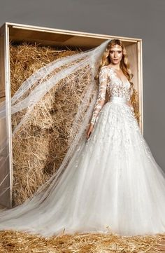 Zuhair Murad. Illusion Princess/Ball Gown Wedding Dress  with Natural Waist in Tulle. Bridal Gown Style Number:33076985