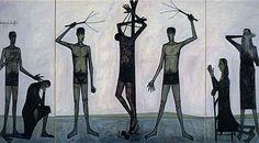キリストの受難:笞刑 1951年  油彩、カンヴァス ベルナール・ビュフェ美術館  http://www.buffet-museum.jp/e/