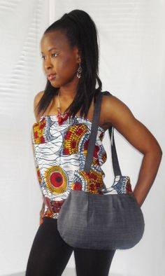 African Print Boob Tube Bandeau Top by Louvoshine on Etsy, £18.00