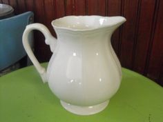 Vintage Federalist Ironstone Water Pitcher Made in by peacenluv72, $24.50