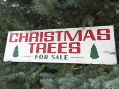 Christmas Trees Sign - Joanna Gaines - Farmhouse - Christmas - Vintage - Holiday - Rustic - Home Decor - Wood Sign by TheOldWhiteShedIowa on Etsy https://www.etsy.com/listing/553451374/christmas-trees-sign-joanna-gaines