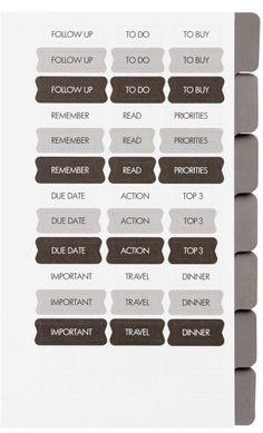 k Personal Planner Refills - White Refillable Planner, Kikki K, Priorities