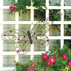 Large butterfly garden sculpture - add a little whimsy to your outdoor decor.