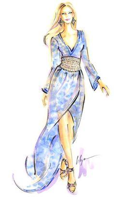 """Blue Dyes Ahead...""""Batik Chic"""", Client Outtake, 2013"""