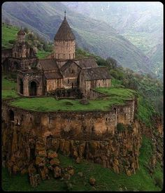 Tatev Monastery is situated near the village of the same name in part of Zangezur--ancient Syunik in Armenia. The monastery was founded in the ninth century in place of a tabernacle well-known in ancient times. The strategically advantageous location on a cape formed by a deep river gorge with precipitous rocky slopes favored the construction of a mighty defense complex there; It also was home to a spectacular matenadaran (a repository for ancient manuscripts) which held over 10,000…