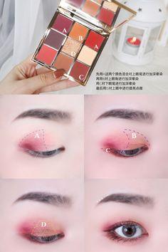 Online shopping from a great selection at CATKIN Cosmetic Store. Korean Eye Makeup, Eye Makeup Art, Asian Makeup, Cute Makeup, Eyeshadow Makeup, Makeup Inspo, Makeup Tips, Beauty Makeup, Makeup Ideas