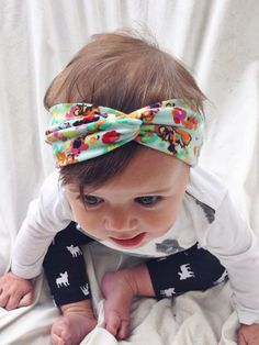 Baby mint turban version 2.0 by turbansfortots on Etsy, $9.00