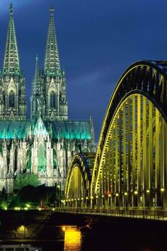 Hohenzollern Bridge, Cologne, Germany..