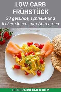 33 delicious and fast low carb breakfast recipes - Schnelle Rezepte - Healthy recipes Breakfast Desayunos, Health Breakfast, Healthy Breakfast Recipes, Easy Healthy Recipes, Brunch Recipes, Quick Easy Meals, Seafood Recipes, Low Carb Recipes, Diet Recipes