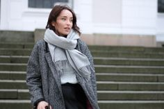 Cold! Grey Scarf, Everyday Outfits, Auburn, Accent Pieces, Street Wear, Street Style, Urban, My Style, Scarfs