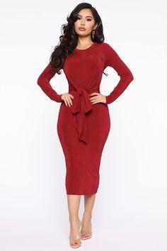 Burgundy Midi Dress, Pink Midi Dress, Dress Red, Curve Dresses, Plus Size Dresses, Burgundy Fashion, Work Dresses For Women, Swimsuits For Curves, Curves Clothing