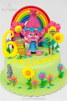23 Best Trolls Cake Images Troll Party Birthday Cakes Birthday Ideas