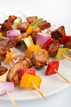 Build your own kebabs bar - great party idea! dollarstoremom.com