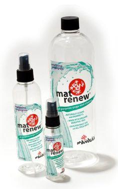 Manduka Mat Renew Yoga Mat Spray. Energizing Lemongrass, Tranquil Lavender and Citrus....smells so good.