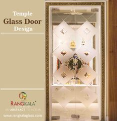 In India many houses have inbuilt temple at their homes or have a traditional value of creating a temple either in the premise or in the house itself. Glass Design, Door Design, Temple Glass, Glass Door, Household, Houses, India, Doors, Traditional