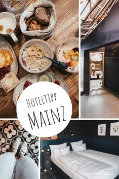 Hoteltipp Mainz: Das me and all Hotel Das Hotel, Table Settings, Beautiful Hotels, Beds, Place Settings, Tablescapes
