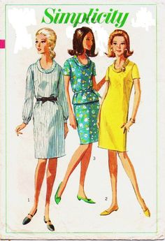 Vintage 60s Simplicity Sewing Pattern 6861 Womens by CloesCloset, $11.00