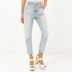 acf3345ed7 Light wash slim Mom jeans £40  riverisland  RIdenim Slim Mom Jeans
