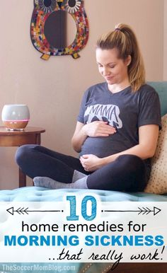 How to get rid of morning sickness with home remedies (and without a prescription) — what really works and what doesn't! 10 tried and true tricks to relieve morning sickness immediately. #pregnancy #parenting #momlife
