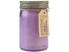 Paddywax candles for styling & Restroom Lavender & Thyme Jar Candle oz. Candles And Candleholders, Soy Wax Candles, Scented Candles, Candle Jars, Mason Jars, Foyers, Purple Candles, Lavender Candles, Paddywax Candles