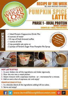 ideal protein pumpkin latte
