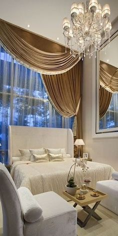 Curtains are beautiful. There are some items in the room that I'd switch out though