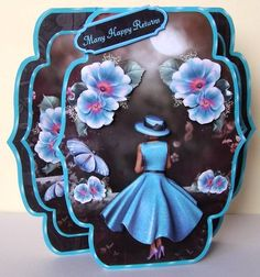 Moon Fleurs 3 -  Quick &amp Easy Pop-out Card Mini-kit by Margaret McCartney