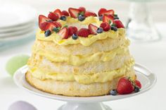 Angel Lush Cake...healthy! Sounds so yummo, and easy