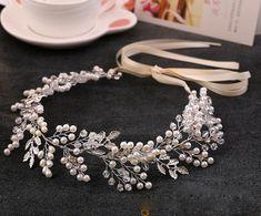 Европейское и Американское популярное ручной имитация перл кристалл повязки невесты свадебное аксессуары для волос оптом