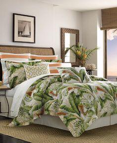 King Duvet Cover Sets, Queen Comforter Sets, Bedding Sets, Duvet Covers, Queen Duvet, Green Comforter, Comforter Cover, Tommy Bahama, Tropical Bedding