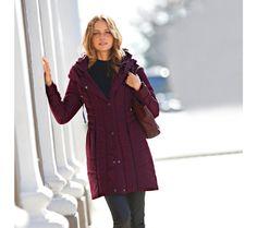 Prošívaná parka s kapucí   blancheporte.cz #blancheporte #blancheporteCZ #blancheporte_cz  #fall #autumn #podzim #bunda Parka, Coat, Jackets, Fashion, Down Jackets, Moda, Sewing Coat, Fashion Styles, Peacoats
