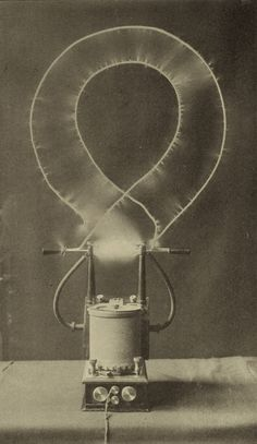 Electrical oscillator (Nikola Tesla) Electric charge finds its vortex.  Natural figure of eight.